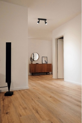 Hardwood flooring in a new home