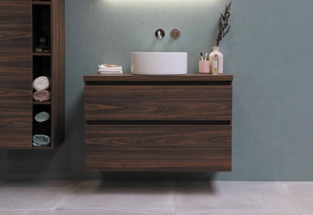 brown wooden drawers and cupboard for storage